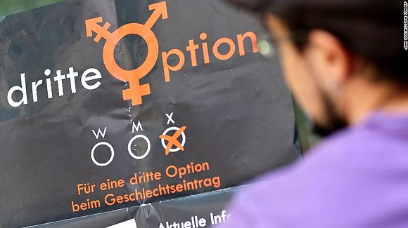 "Germany's top court ruled Wednesday that lawmakers must legally recognize a ""third gender"" from birth. Once a law is passed, ..."