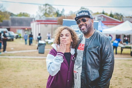 "Actors Jasmine Guy and Kadeem Hardison—Dwayne Cleophus Wayne and Whitley Gilbert of NBC's ""A Different World""—visited Terrell, Texas to celebrate ..."