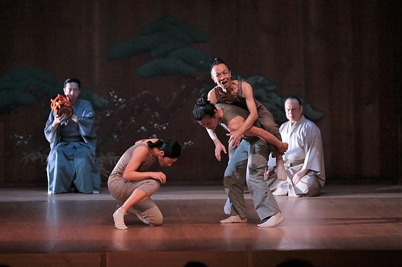 "The recent production of the dance/drama at Japan Society, ""Left-Right-Left"" ""…was developed based on the never-seen-before concept of combining noh ..."