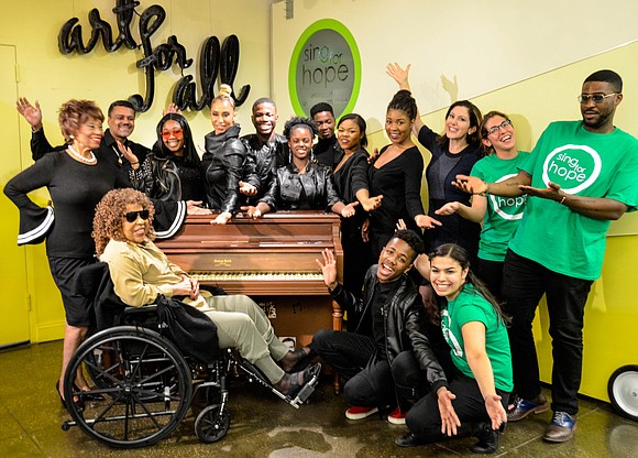 A Sing for Hope Piano was recently donated to Vy Higginsen's organization, Mama Foundation for the Arts, during a celebration ...