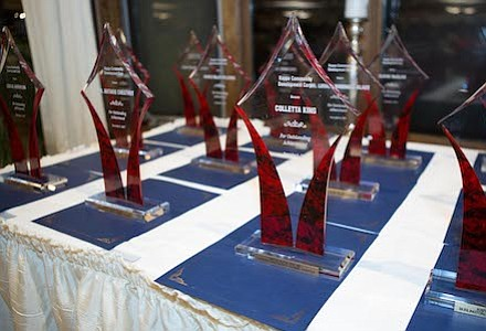 Awards for the 2017 Burlington-Camden (NJ) Alumni Chapter of Kappa Alpha Psi Fraternity, Inc., and Kappa Community Development Corporation's African-American Women of High Achievement honorees.