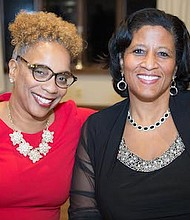 Leslie A. Anderson,  Executive Director of the New Jersey Redevelopment Authority (NJRA) and Tracy Bond, Owner and President of Great Valley Pool Service, Great Valley Awning & Great Valley Christmas Decor sat next to each other at the head table along with the other honorees at the Burlington-Camden (NJ) Alumni Chapter of Kappa Alpha Psi Fraternity, Inc., and Kappa Community Development Corporation's 14th annual African-American Women Achievers' Banquet.