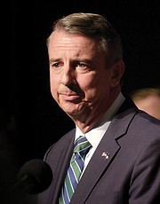 Republican gubernatorial candidate Ed Gillespie gives his concession speech Tuesday night before family, friends and supporters at an election watch party at a Henrico hotel.