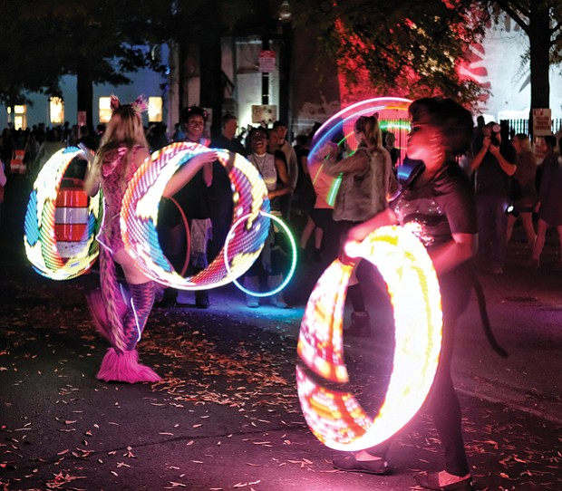 Hula Hoops, light up the night.