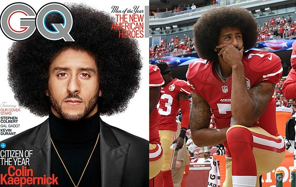 "Colin Kaepernick is one of the faces of GQ's December issue. The magazine named the former 49ers quarterback its ""Citizen ..."