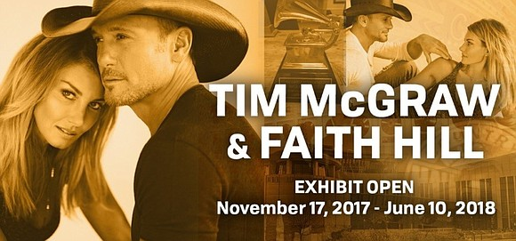 Grammy-winning country artists Tim McGraw and Faith Hill will be the subjects of an exhibition at the Country Music Hall ...