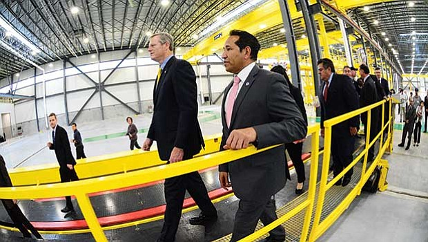 Governor Charlie Baker and state Rep. Carlos Gonzalez joined state officials and CRRC executives to participate in a tour and celebrate the near-completion of CRRC MA's Springfield manufacturing plant. This plant will assemble more than 400 subway cars for the MBTA.