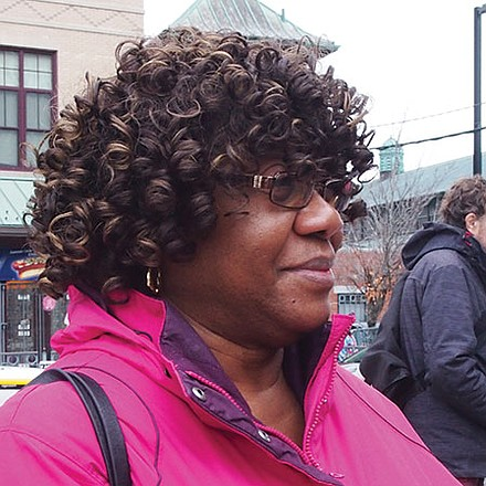 I work placing homeless families in housing. There's nowhere to place them in Boston. They're building new housing here, but nobody can afford it.—Fannie Stewart-Gibbons, Stabilization Case Manager, Dorchester