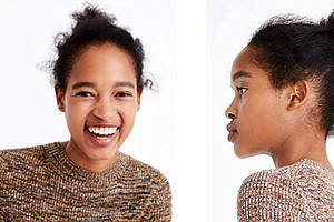 Black Dominican model, Marihenny Rivera, was recently featured in a J. Crew ad with uncombed hair