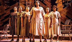 """Carrie Compere (Sofia) and the North American tour cast of """"The Color Purple."""""""