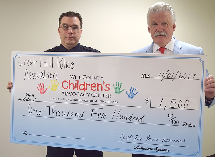 Crest Hill Police donate to Children's Advocacy Center | The