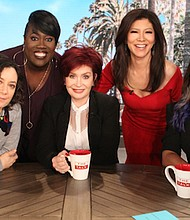 """Eve made her official debut on the CBS talk show """"The Talk"""" on Tuesday. - Photo/CBS"""