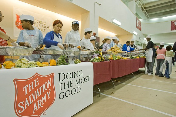 bout 1,000 homeless and hungry people will receive Thanksgiving dinner with all the trimmings at The Salvation Army Greater New ...
