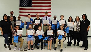 The October 2017 Shorewood Lions Club Students of the Month at Troy Community School District 30-C