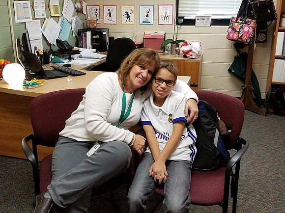 For 5th grade student Jason Skeate, Mrs. Pickering's delayed lunch break was the luckiest break of his young life.