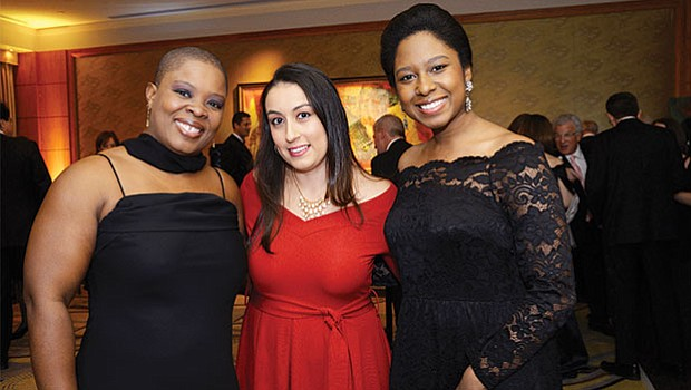 Grace Gomez, Nicole Green and Dianivette Melendez of Stoneham. All are from Boston Children's Hospital, a benefactor sponsor of the Gala.