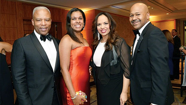 Ronald and Shawnda Walker, Dr. Mallika Marshall and Jason Hurd (Ron is a past Heroes in Health Care honoree. Dr. Marshall served as mistress of ceremonies.)