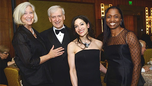 Marni, Bob, and Laura Wise, supporter sponsors of the Gala, and Nakia Maddox-Eubanks from Atlantic Trust.