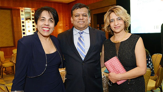 Rita Advani, member of the VNA Care board of directors, with gala honoree Dusty Majumdar, PhD, chief marketing officer of IBM Watson Health