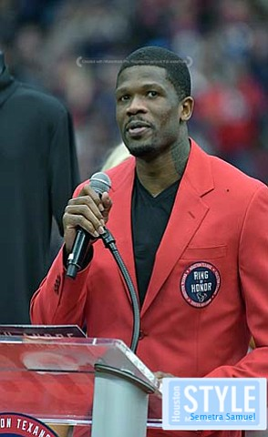 The Houston Texans said a huge 'thank you' to former player Andre Johnson by making him their first inductee into ...