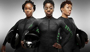 Nigerian Women's Bobsled Team (photo via nytimes.com)