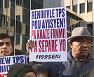 Haitian immigrants protest ending of TPS.