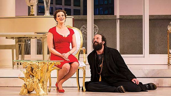 """The Huntington Theatre Company is presenting an exuberant and stylish production of """"Tartuffe,"""" a 17th-century farce by by Molière, one ..."""