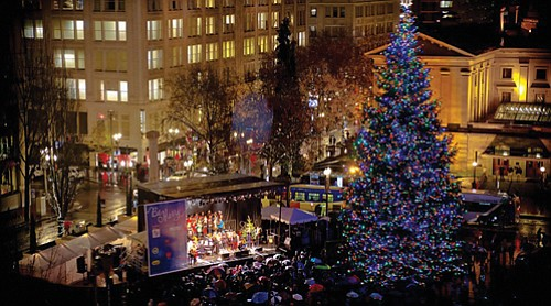 Pioneer Courthouse Square, downtown, hosts the annual holiday Tree Lighting Ceremony presented by SmartPark on Friday, Nov. 24 at 5:30 ...