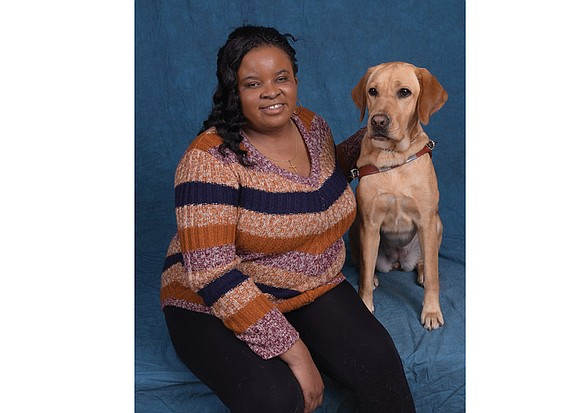 La'Teia Randolph is extra thankful this year. The blind Richmonder now has a guide dog to help her get around ...