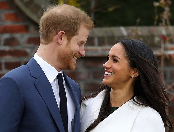 "Meghan Markle barely let Prince Harry finish proposing. It was a ""cozy night"" earlier this month at the couple's Nottingham ..."