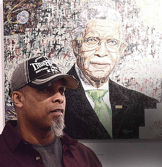 Lynch said he and his wife (Jacqueline Lynch), who is a hair designer, recently decided to combine a hair salon and art studio together and named it Ariel Joseph Art Gallery & Salon, located at 6323 South Cottage Grove Avenue. Photo Credit: Christopher Shuttlesworth