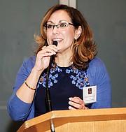 IBA CEO Vanessa Calderon-Rosado speaks at Nov. 8 50th anniversary kick-off event