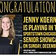 Joliet West High School senior Jenny Koerner will participate in the SportsTownChicago.com 5th Annual Illinois High School Girls Volleyball Senior Showcase in December.