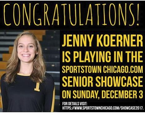 Joliet West High School senior Jenny Koerner will participate in the SportsTownChicago.com 5th Annual Illinois High School Girls Volleyball Senior ...