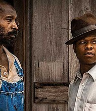 "Actors Rob Morgan and Jason Mitchell portray father and son in ""Mudbound."""