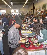 Thanksgiving dinner at National Action Network