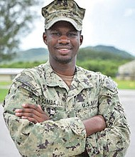 Constructionman Fubara Gombajiji, builds and fights with the Navy in Guam and around the world. He is a member of Naval Mobile Construction Battalion 133, based out of Gulfport, Mississippi.