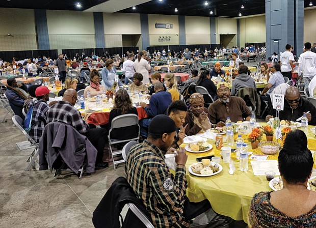 Thousands of people enjoyed the food and fellowship at the annual event.
