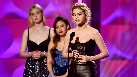 "Selena Gomez gave an emotional acceptance speech on Thursday when she received the Billboard ""Woman of the Year"" award, saying ..."