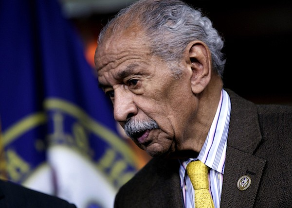 "Rep. John Conyers, D-Mich., attends a news conference on Capitol Hill in Washington. House Minority Leader Nancy Pelosi, D-Calif., the top Democrat in the House, said that Conyers should resign, saying the accusations are ""very credible."" (AP Photo/J. Scott Applewhite, file)"