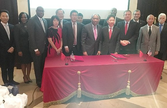 Houston Mayor Sylvester Turner and officials of CIMC-TianDa, a China-based firm, have signed a memorandum of understanding under which the ...