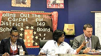 Dolton School District 149 board votes to lower the property tax levy by $19,000 in a meeting