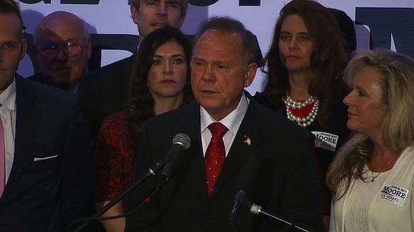 On Monday morning, President Donald Trump removed any doubt: He's 100% behind Roy Moore's Senate campaign.