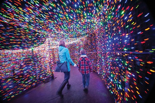ZooLights is back! The Oregon Zoo's walk-through winter wonderland of more than 1.6 million colored lights has opened for its ...
