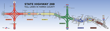 Below is a map of the Drive 288 construction project.