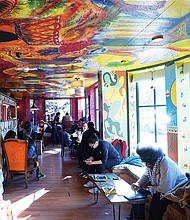 Sirmollo says he has painted his coffee shop three or four times in order to create a welcoming ambience.