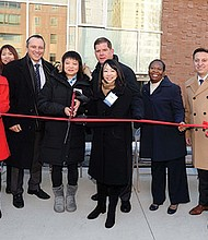 Mayor Martin J. Walsh joins the Asian Community Development Corporation and Chinatown residents to celebrate the grand opening of 88 Hudson Street, 51 affordable new condominiums for working families in Chinatown.