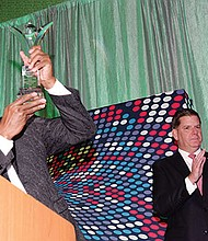 Boston Red Sox Pitching legend Pedro Martinez received that Boston Pride Award during the We Are Boston Awards Gala at the Seaport Westin in South Boston.