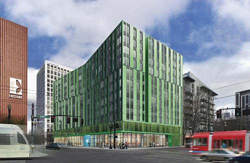 A proposed 240 unit, 12-story mixed-use complex reserved for lower income tenants, the largest affordable housing investment in Portland for ...