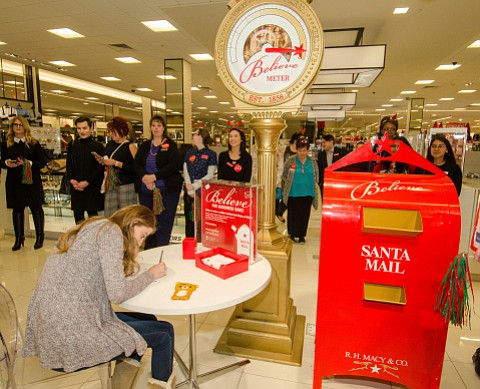As part of its 10th annual Believe campaign, Macy's has declared this Friday, Dec. 8, National Believe Day – a ...